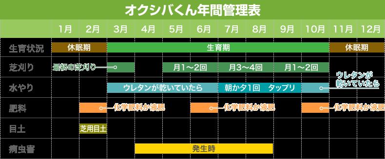 オクシバくん年間管理表